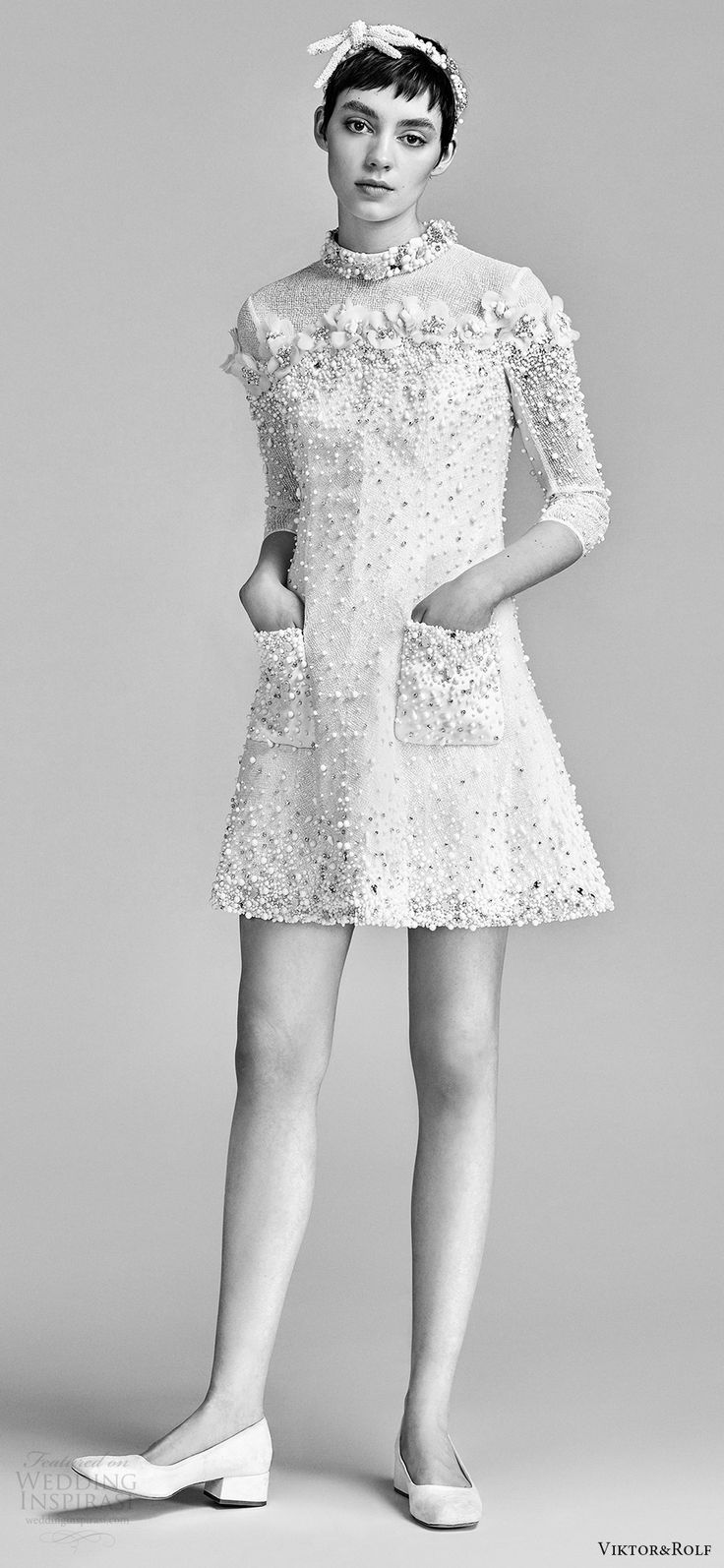 Short and tea length wedding dresses viktor and rolf spring