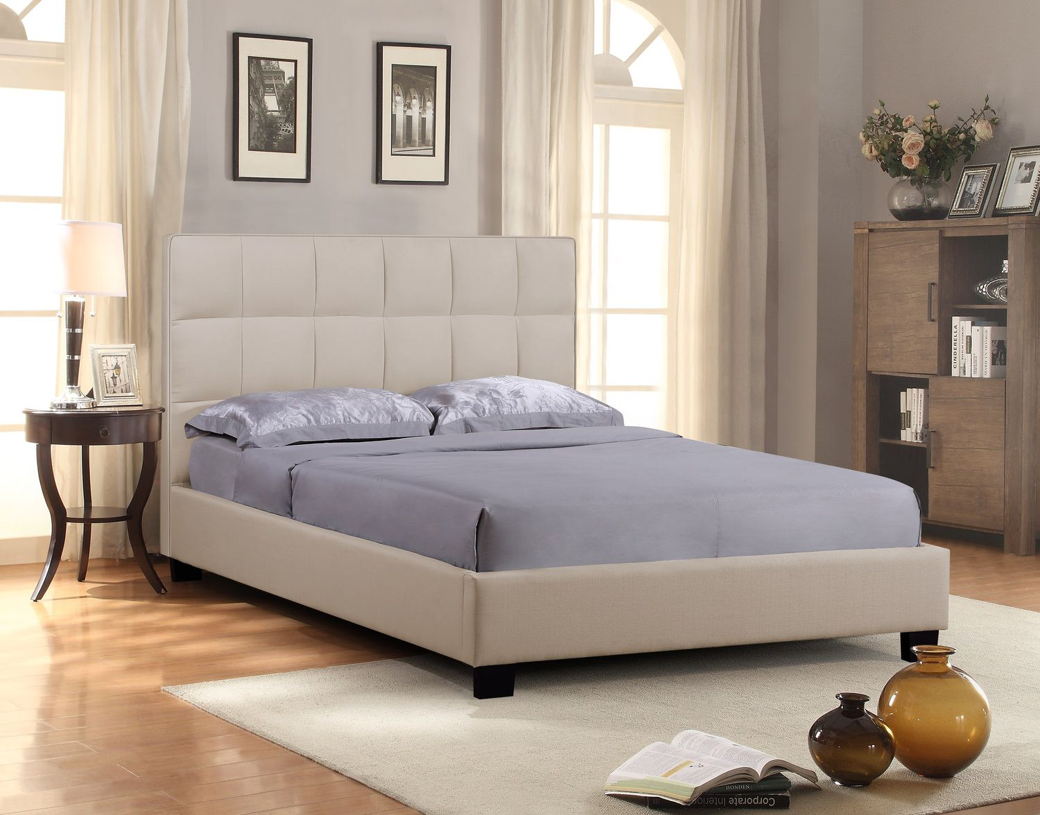 The Loft Upholstered Bed   Sand | HOM Furniture | Furniture Stores In Minneapolis  Minnesota U0026