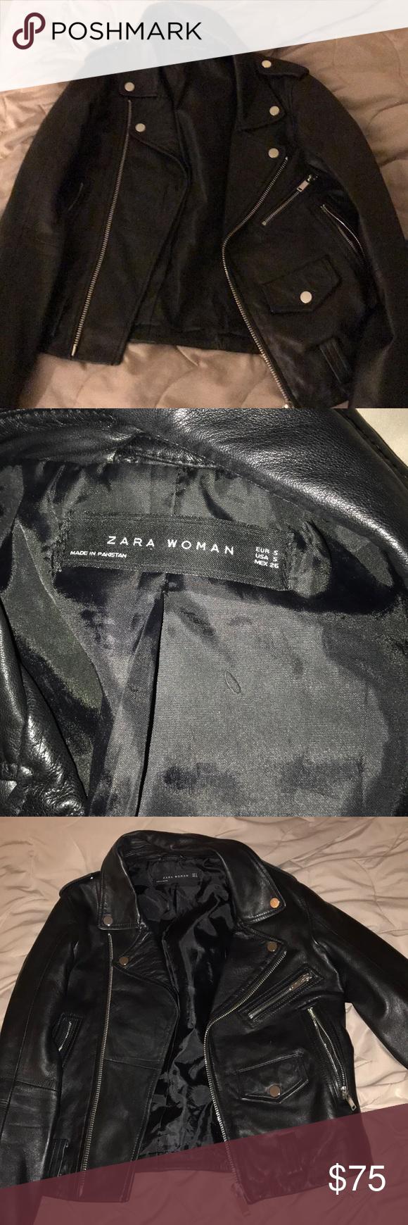 Zara sheepskin leather jacket Leather jacket, Jackets, Zara