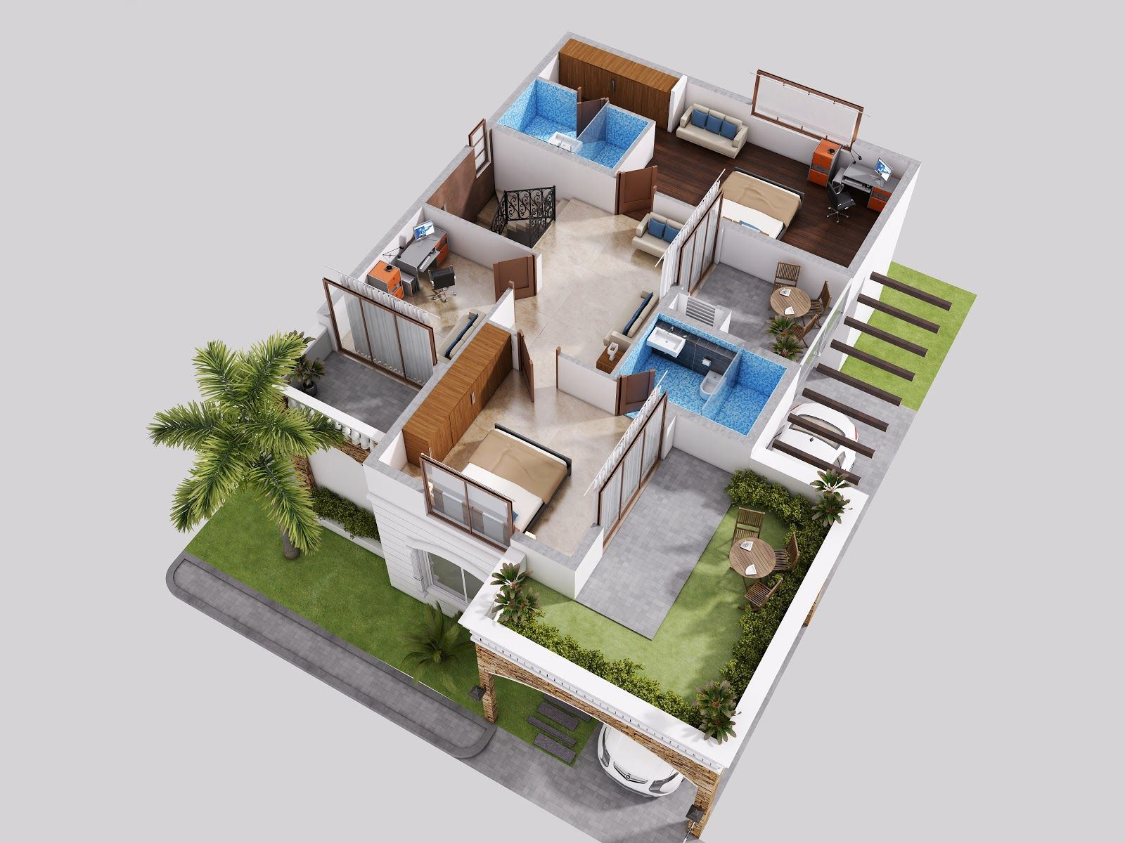 amazing 3d floor plan created by 3ds