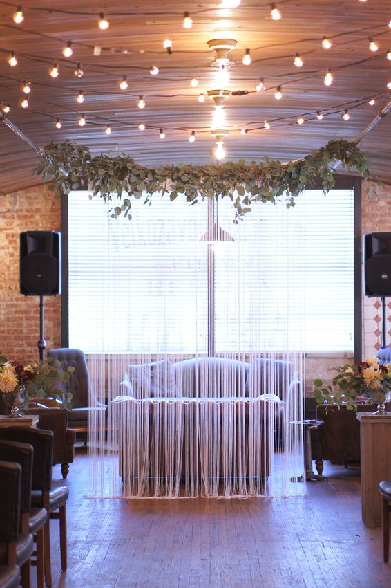 String Backdrop For Ceremony Wedding At Kolo Klub Hoboken Nj