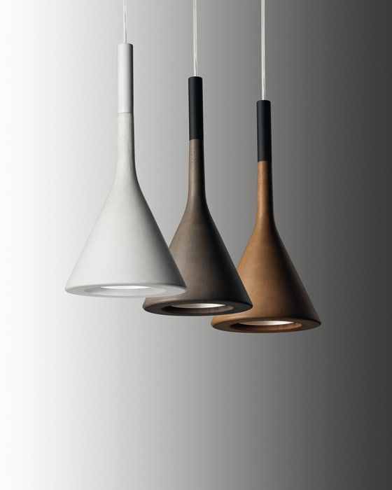 Heavylight pendant lamps concrete and lights aplomb concrete pendant lights by lucidipevere for foscarini aloadofball Image collections