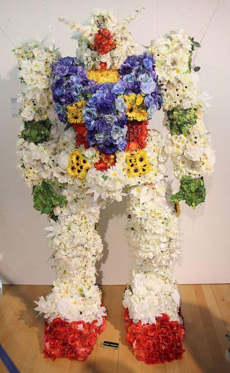 Flowers In Absurd Beautiful Places Beautiful Bouquet Of Flowers Flower Sculptures Gundam