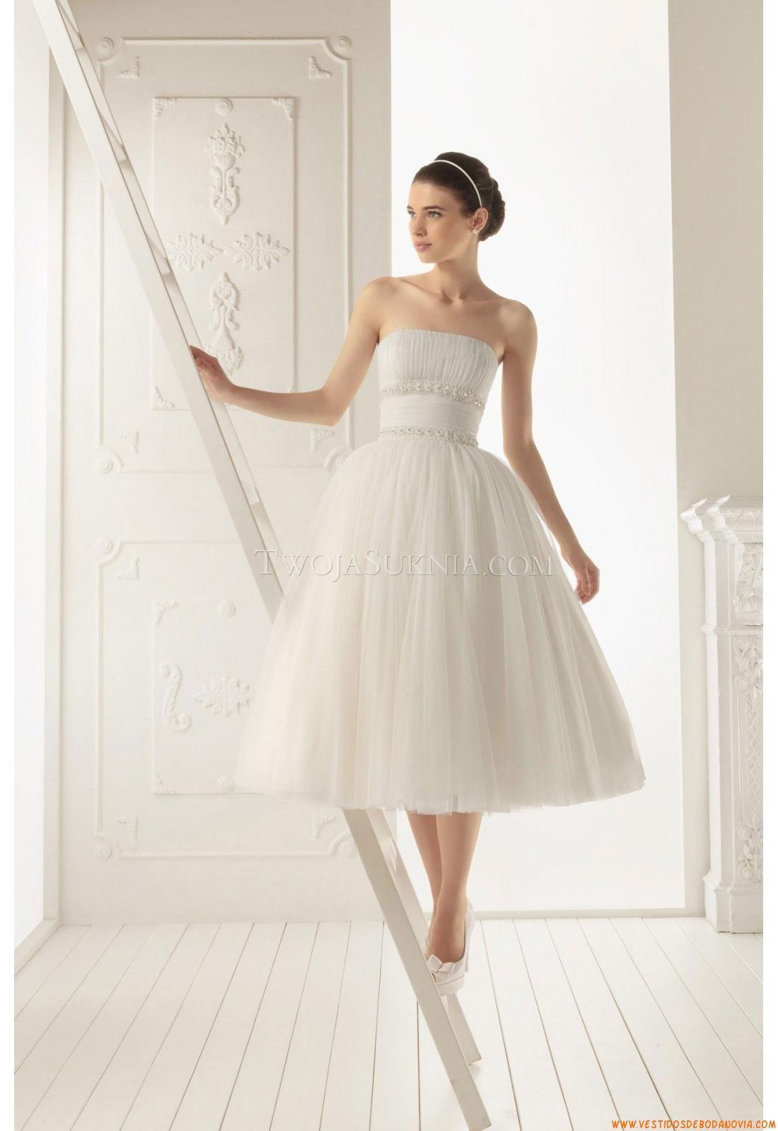 Vestidos de novia cortos aire barcelona