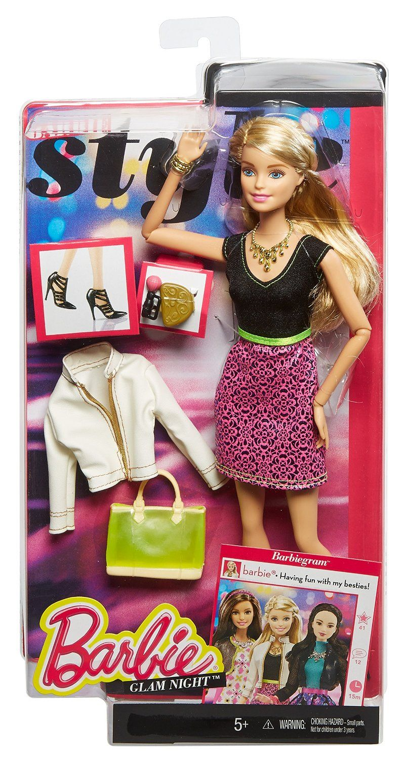 Barbie Style Glam Doll With Black Pink Leopard Print Dress Toys Games Barbie