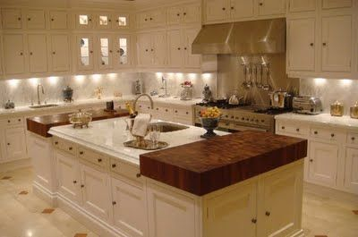 Clive christian kitchen white kitchen accents of butcher block counters heavenly - Clive christian kitchen cabinets ...