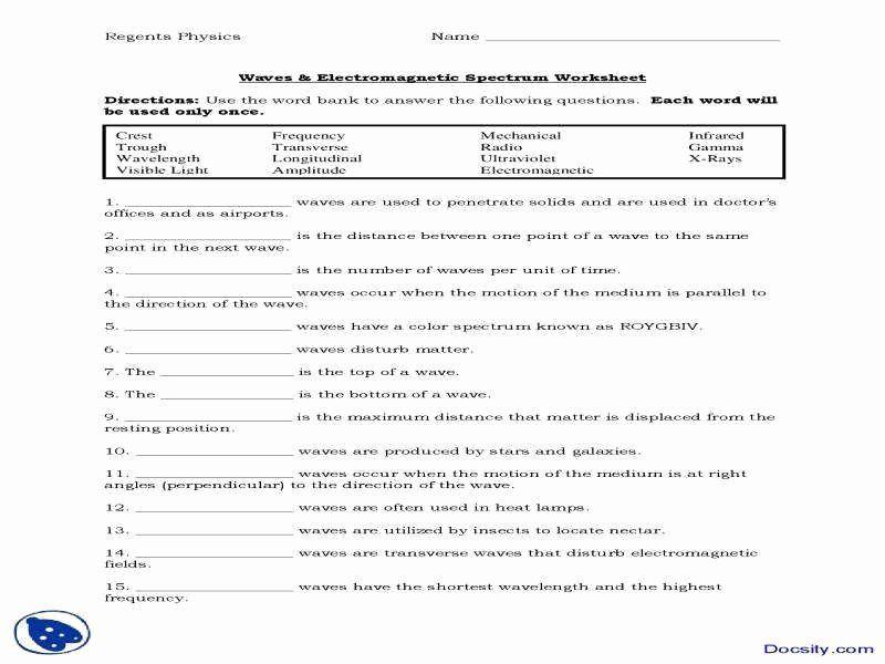 Electromagnetic Spectrum Worksheet High School Luxury Electromagnetic Spectrum In 2020 Electromagnetic Spectrum Electromagnetic Spectrum Activities Science Worksheets