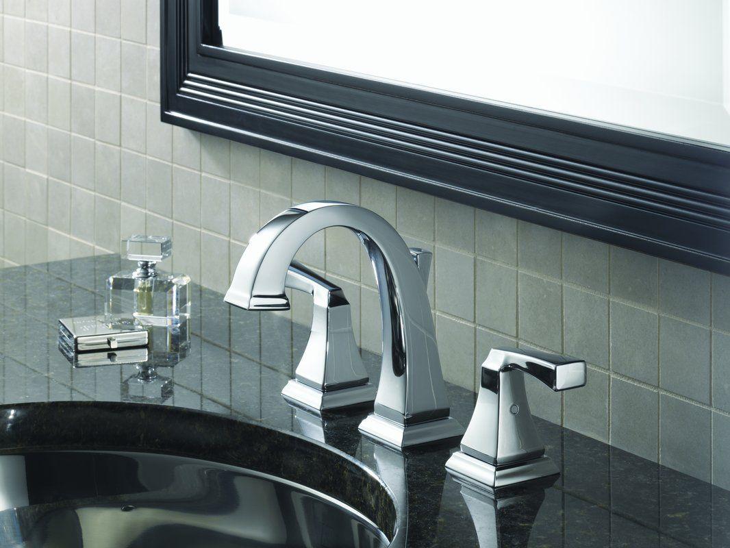 "Delta 3551LF-75124-75150 Dryden Bathroom Package Including 3551LF Dryden Widespread Bathroom Sink Faucet, Dryden 24"" Towel Bar and Dryden Toilet Paper Holder"