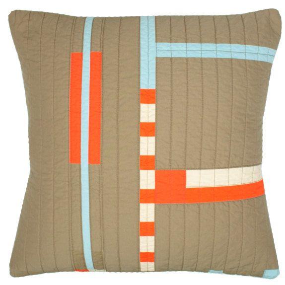 Contemporary Decorative Pillow Checks