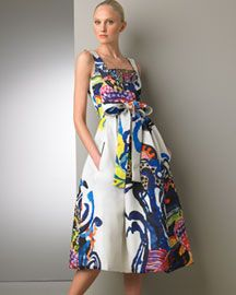 Lacroix Hand Painted Dress Dresses Neiman Marcus
