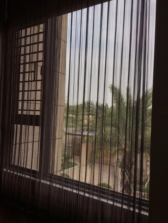 Aluminum Coil Mesh Sunshade Curtain Exterior Design Mesh Curtains