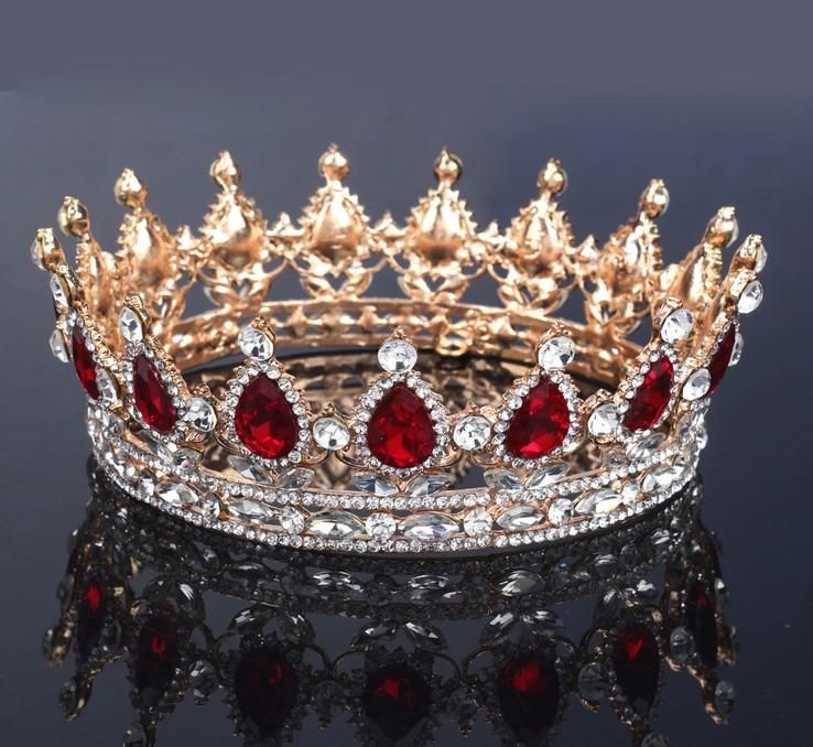 Bridal Wedding Jewelry Queen Crowns Tiaras Baroque Hair Accessories Vintage Women Fashion Rhinestone New Luxury Headbands 2018 Sparkle Metal Bridal Jewelry Crown Tiara Online with $32.34/Piece on Everising's Store #crowntiara