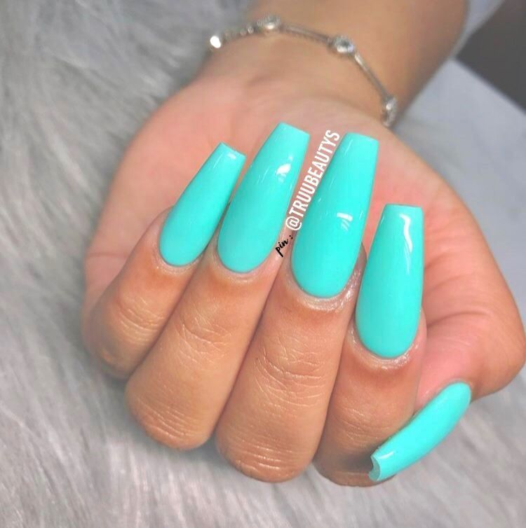 27+ Awesome Acrylic Coffin Nails Designs In Summer - Nail Designs