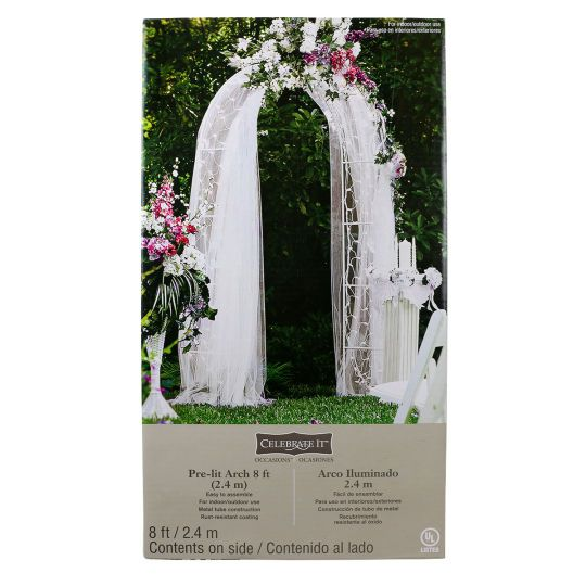 Celebrate It Occasions™ Pre Lit Arch  This Elegant Archway Is A Wonderful  Addition To The Wedding Ceremony. Use It As A Backdrop When Exchanging Vows  Or As ...