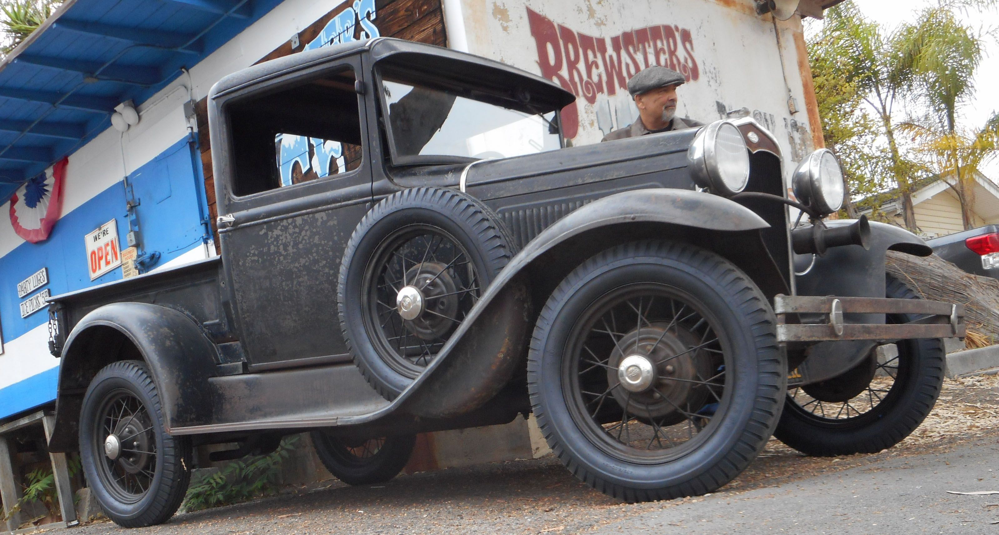 1931 Ford Model A Pickup at Brewsters Ice House Huntington Beach
