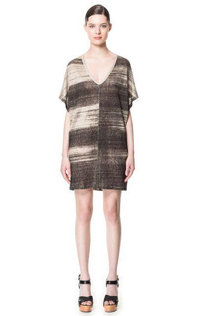 TUNIKAKLEID MIT PRINT - Kleider - Damen - ZARA Deutschland - 100% LEINEN - 39,95 EUR