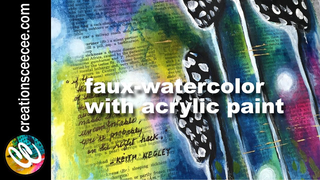How To Clear Gesso Acrylics Faux Watercolor Small Art