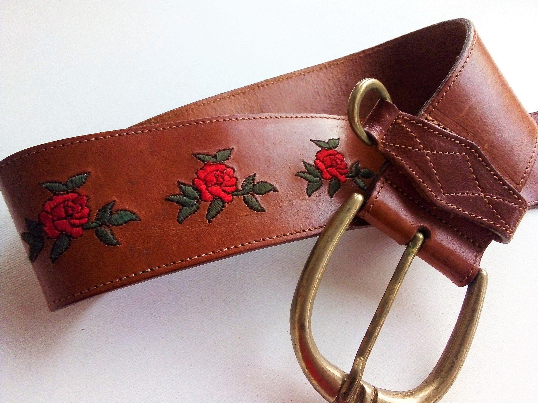 Vintage Boho Hippie Embroidered Belt
