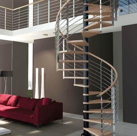 Best Modern Interior Design With Spiral Stairs Contemporary 400 x 300