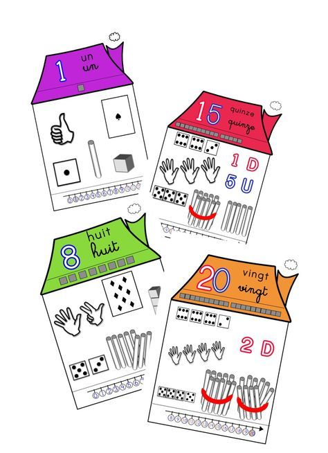 maisons de nombres de 1 20 chiffres mathematique. Black Bedroom Furniture Sets. Home Design Ideas