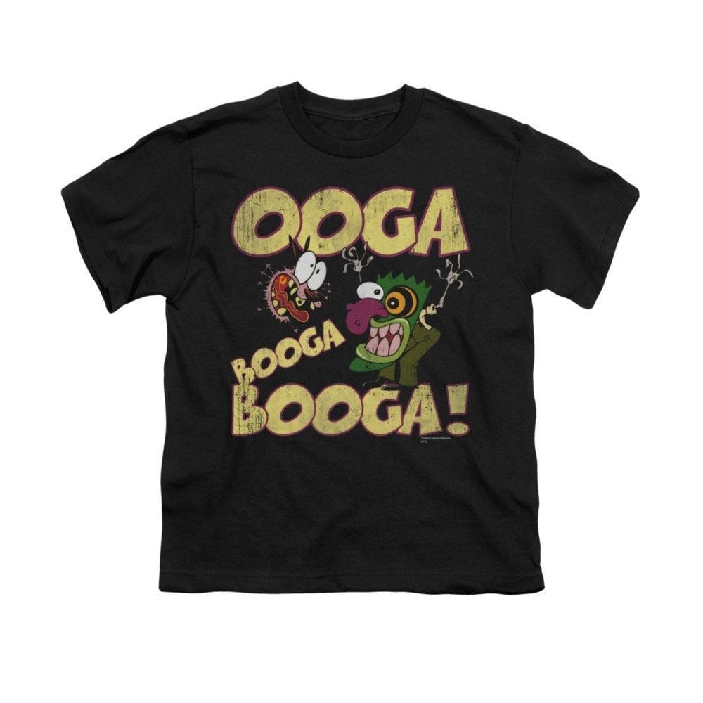 Courage Ooga Booga Booga Youth T Shirt Ages 8 12 Black Hooded
