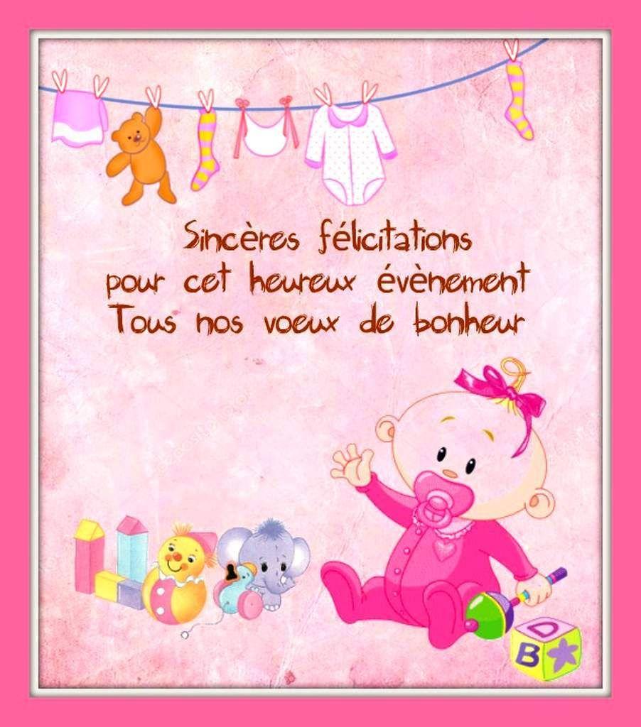 Cartes Félicitations Naissance Carte Felicitation