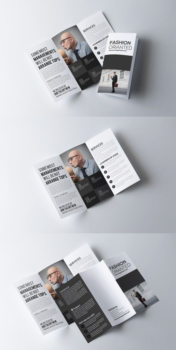 Business Trifold Brochure Template Design Flyer Card Templates