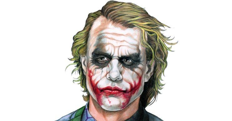 Joker Scribble Drawing : Joker face the dark knight b