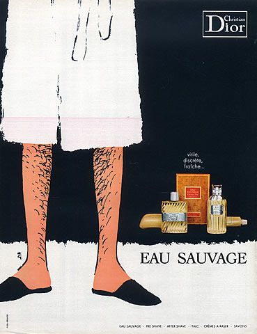 Christian Dior Perfumes 1969 René Gruau Eau Sauvage Perfumes