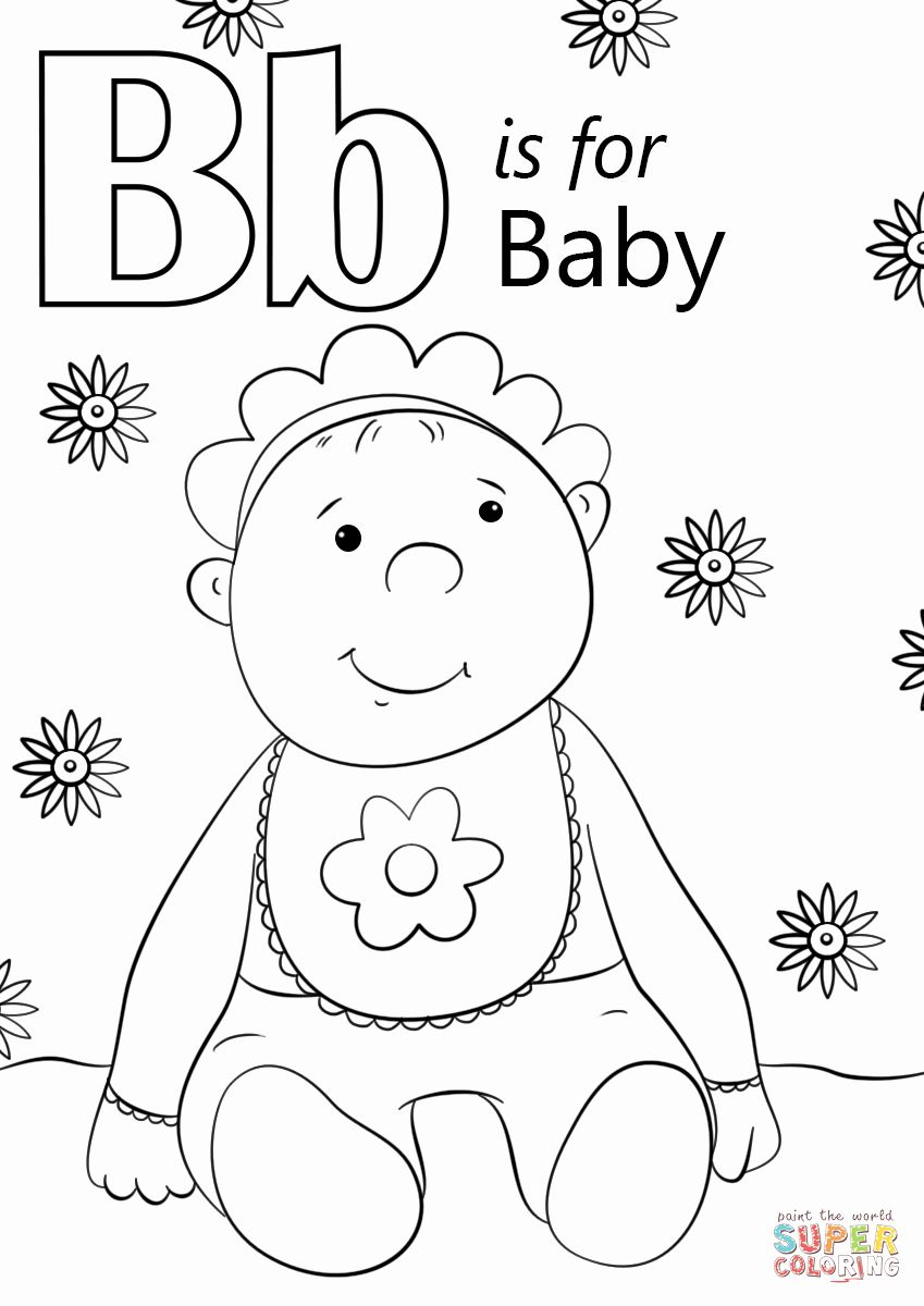 Coloring Pages Letter B In 2020 Baby Coloring Pages Letter B Coloring Pages