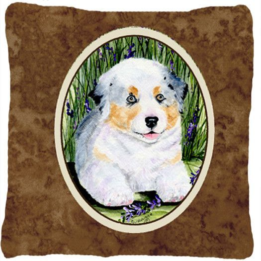 Australian Shepherd Decorative Canvas Fabric Pillow