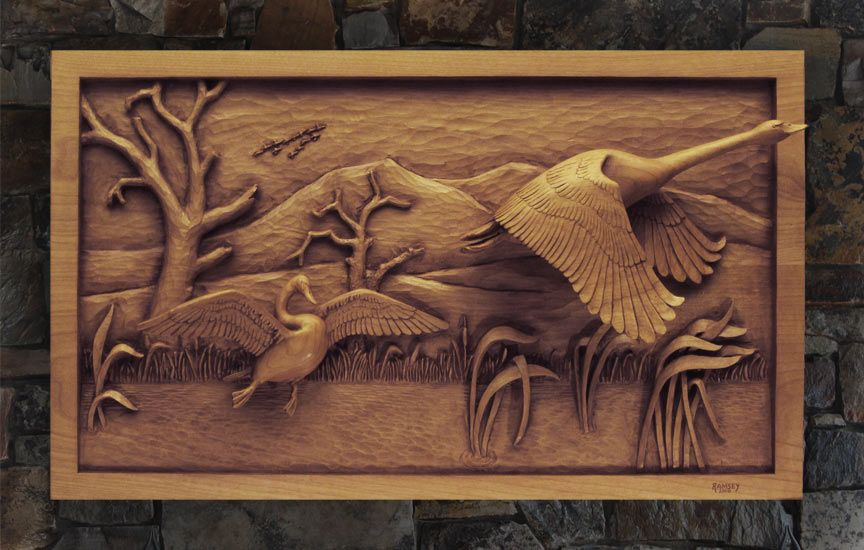Wooden Carved Pictures Carved Wildlife Relief