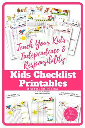 How to teach kids independence and responsibility free kids free printable routine checklist templates to help your kids learn independence and responsibility free chores maxwellsz