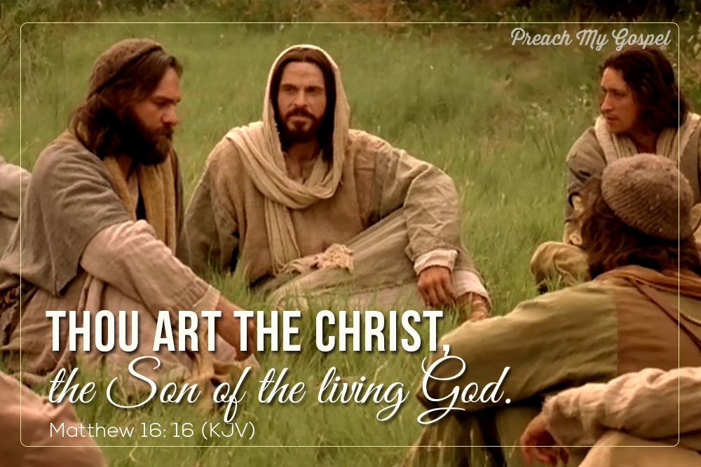 Thou art the Christ, the Son of the Living God #BecauseofHim | The ...