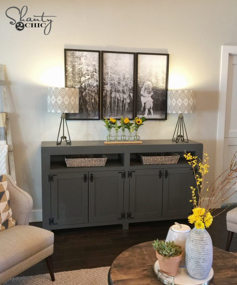 Diy Modern Farmhouse Media Console Table Furniture Plans