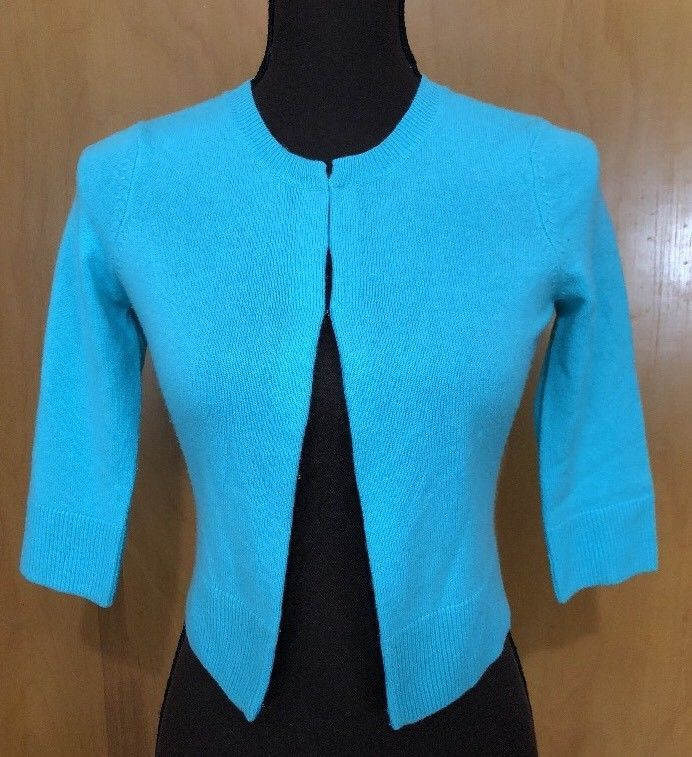 132a146c2d8 LILLY PULITZER AQUA CARDIGAN 100% CASHMERE CROP SWEATER - WOMENS XS   fashion  clothing  shoes  accessories  womensclothing  sweaters (ebay link)