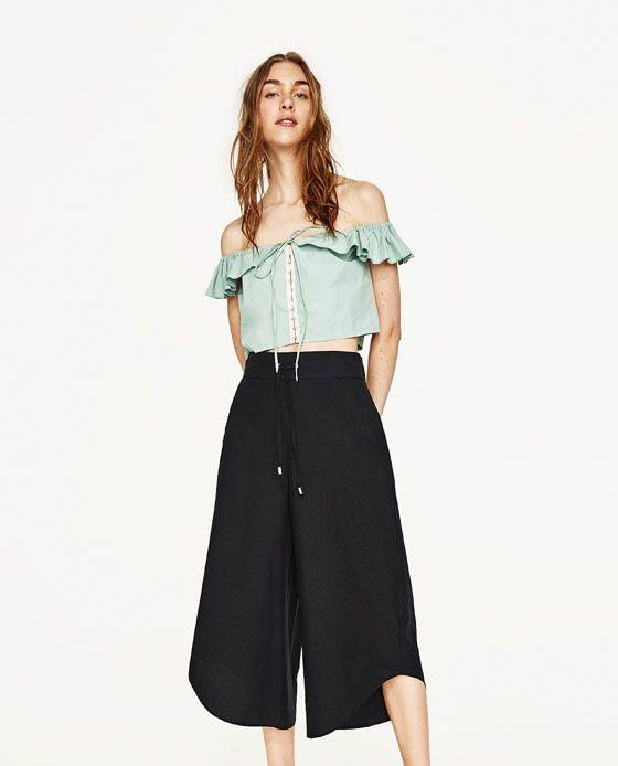 abfe1ab3fee1 Immagine 1 di PANTALONI CULOTTE CON LACCIO di Zara | Idee vestito ...