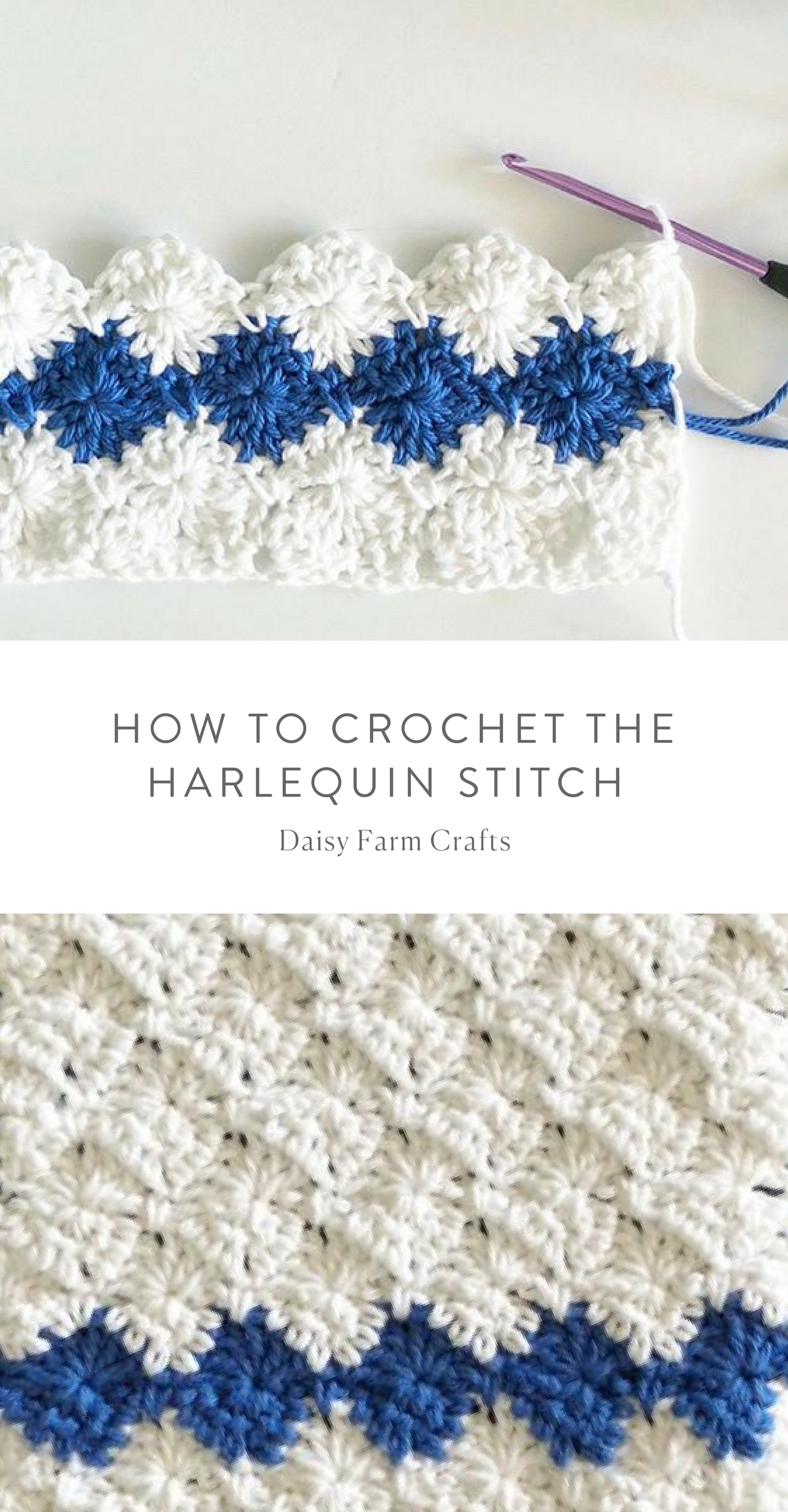 How to Crochet the Harlequin Stitch - Daisy Farm Crafts #crochet ...