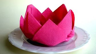 youtube pinterest napkin folding rose how to fold napkins easy tutorial mightylinksfo