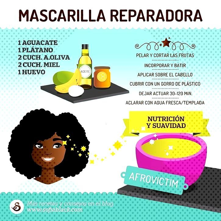 reparadora para cabello dañado by Afro Victim (DIY) -Mascarilla reparadora para cabello dañado by