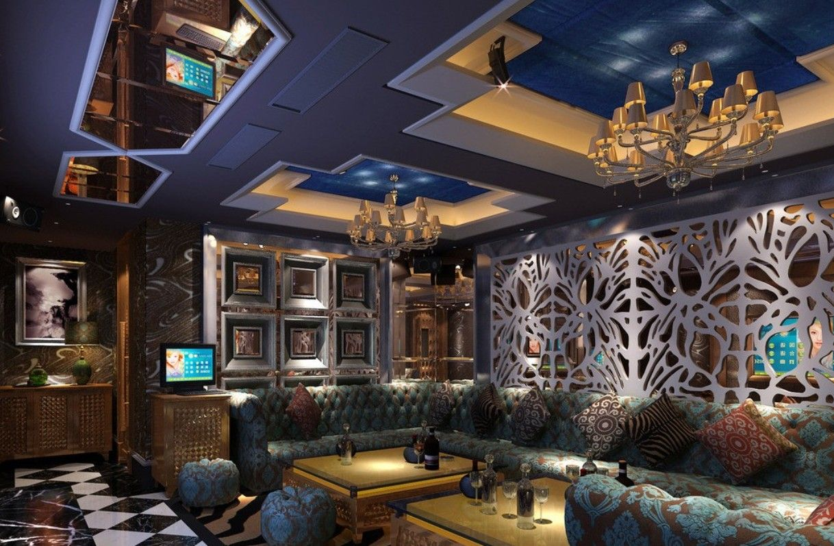Dream Ceiling KTV Room 3d Interior Design