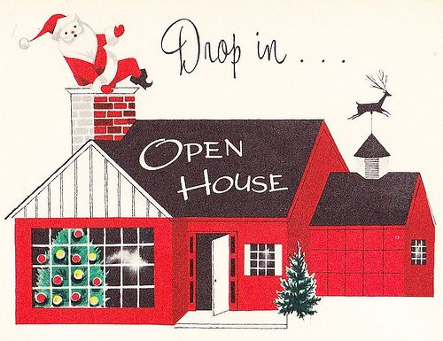 Christmas Open House Invite 1950s Christmas Party ideas