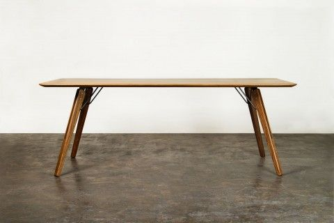Charming Journey East Solid Oak Wood Sleek Dining Table With Scandinavian And  Industrial Design Influences | @ Home In Sg | Pinterest | Scandinavian Dining  Table, ...