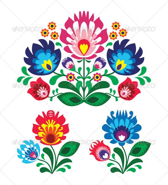 GraphicRiver Polish Floral Folk Embroidery Pattern 4339089