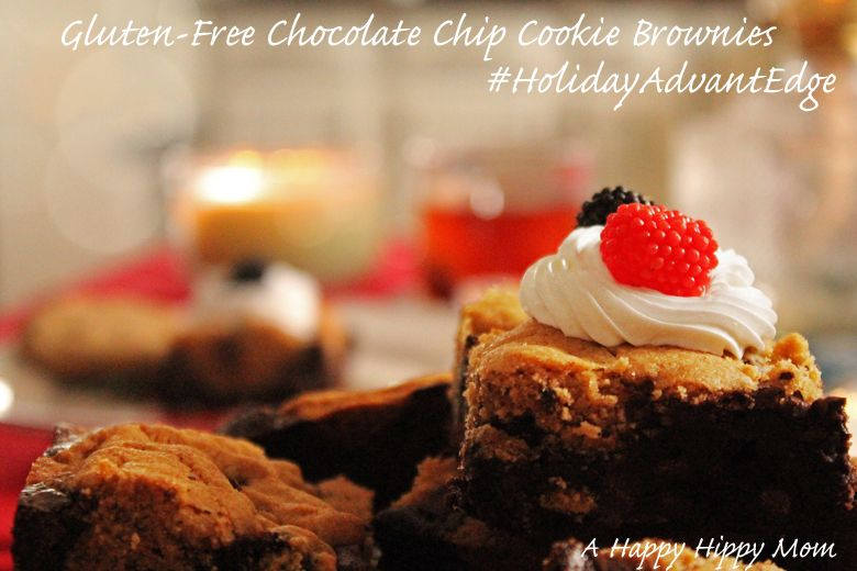 Remember to include gluten-free offerings in your holiday planning like @ahappyhippymom's Gluten-Free Chocolate Chip Cookie Brownie recipe, made with Betty Crocker Gluten Free Brownie Mix and Frosting. #HolidayAdvantEdge #ad