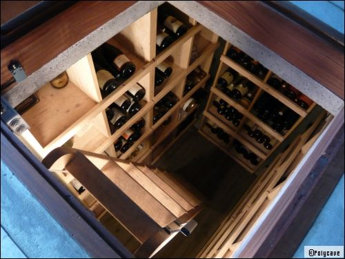 am nager une cave vin chez soi cave wine cellars and construction. Black Bedroom Furniture Sets. Home Design Ideas