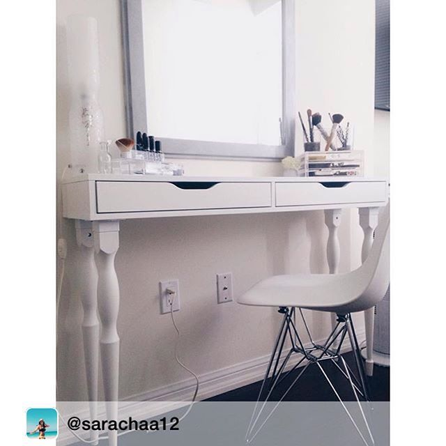 Ikea Canada On Instagram With Ekby Alex Shelves You Can Create A Desk Or Makeup Vanity Anywhere In Your Home Just Add Le Ikea Ikea Canada Bedroom Desk Ikea