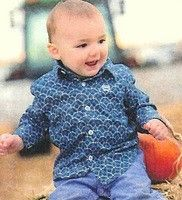 7076e4a48 Cinch® Infant Turquoise Print Button Long Sleeve Shirt | Cinch ...