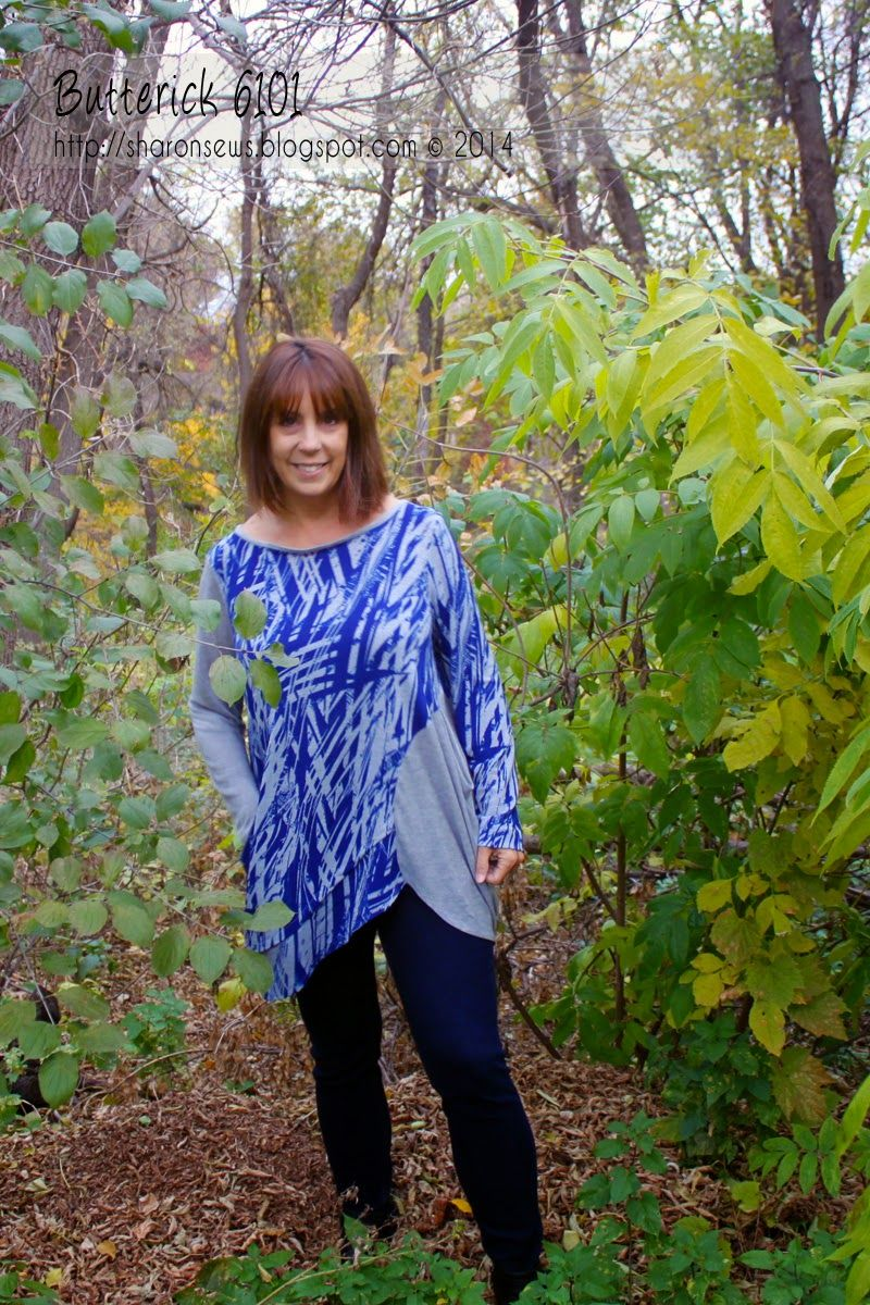 Butterick 6101, a Katherine Tilton loose-fitting, knit tunic design. From the blog Sharon Sews #tunicdesigns