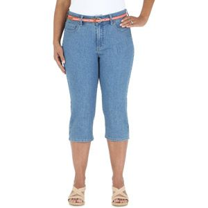 riders by lee women's plus-size capri in crystalline, $17.97 at